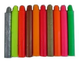 Crayons - Fluoro/Metallic (10)