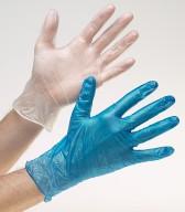 Gloves Vinyl - Blue Medium (100)