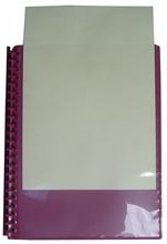 Refillable Display Book with Insert Cover (MIXED COLOURS) - 20 page