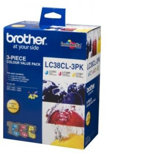 Brother LC38 - Colour 3 pack
