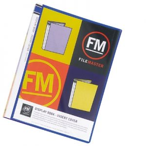 Display Book with Insert Cover - 60 page MIXED COLOURS