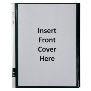 Display Book With Insert Cover - 40 page Green
