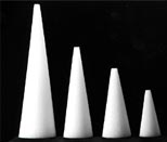 Styrofoam Cone  (60 x147mm)